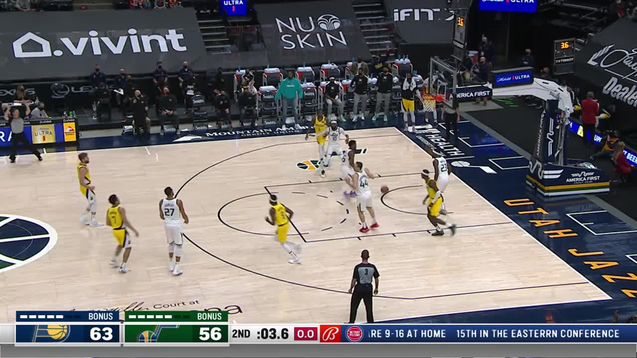 LeVert Closes Half with Three