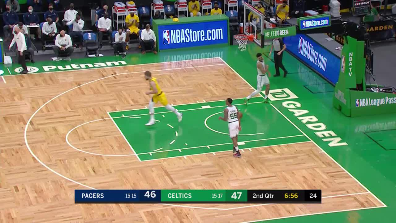 Sabonis Beats Everyone Down the Floor