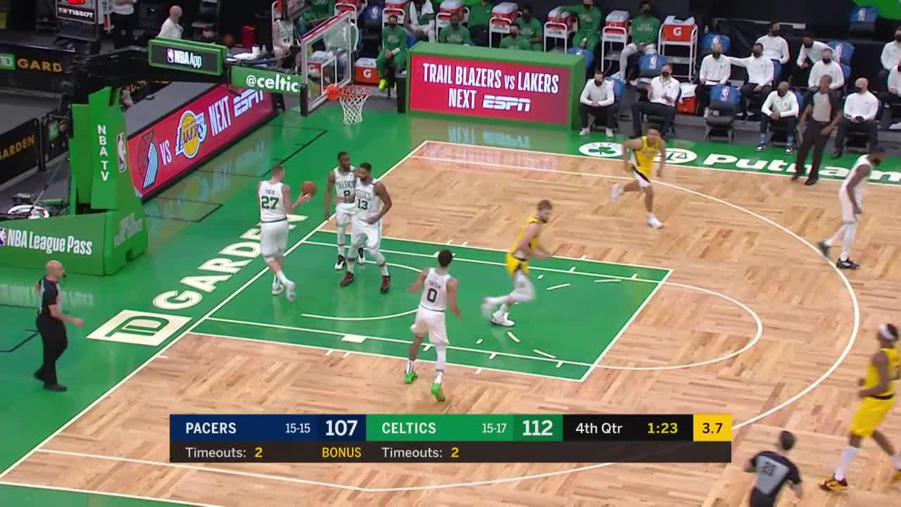 Sabonis Gets It Done Down Low