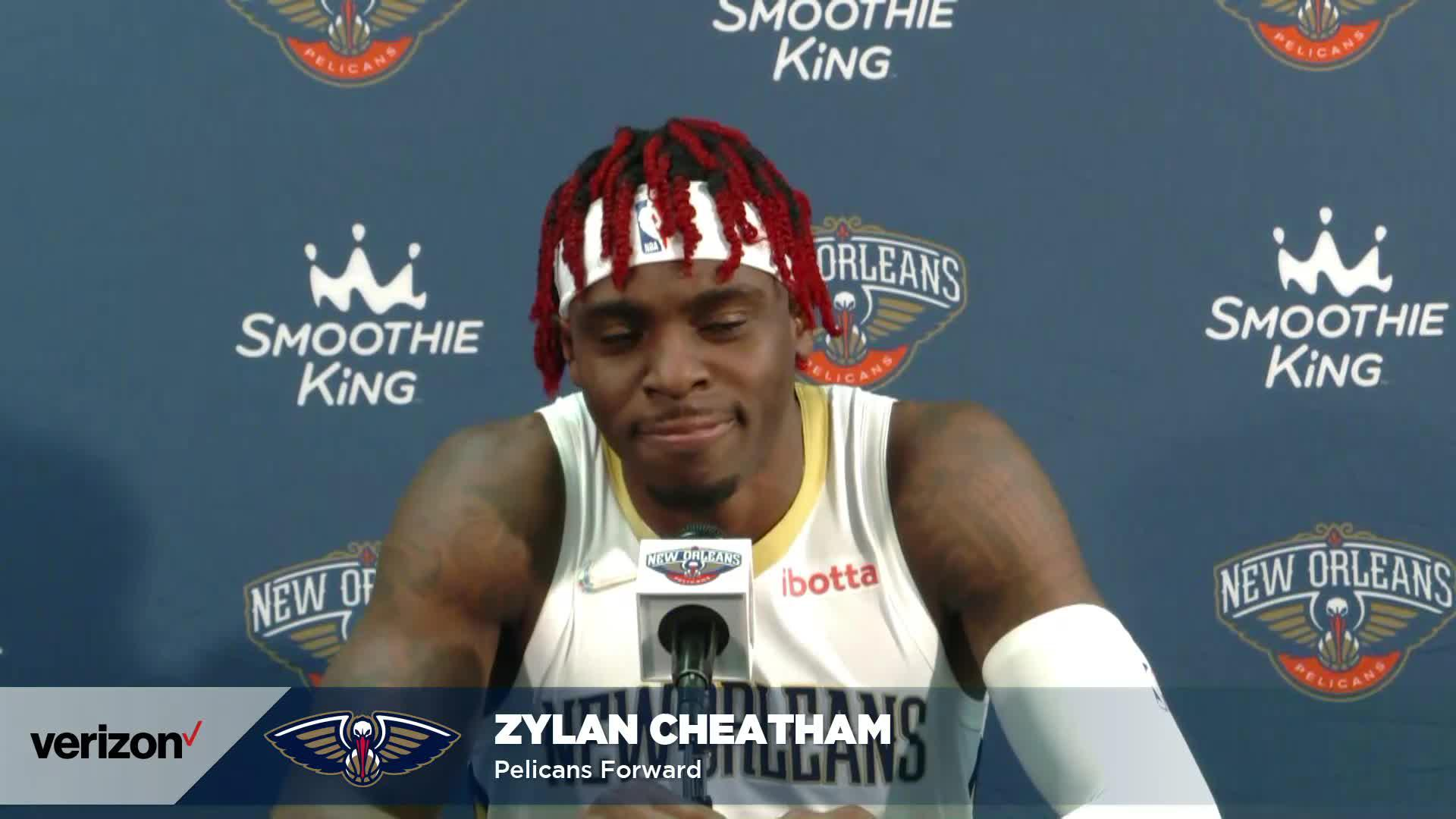 Zylan Cheatham on Willie Green, returning to New Orleans | Pelicans Media Day 2021 Interviews