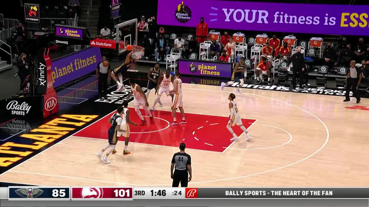 Jaxson Hayes two-hand slam | Pelicans-Hawks Highlights
