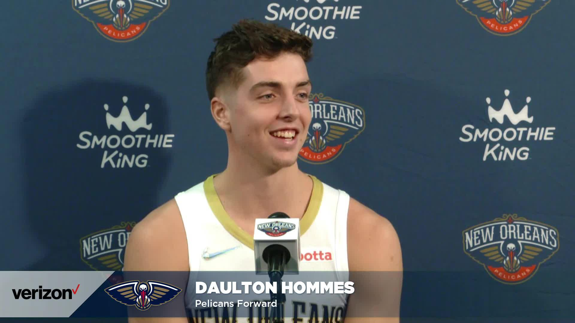 Daulton Hommes on injury recovery, motivation | Pelicans Media Day 2021 Interviews