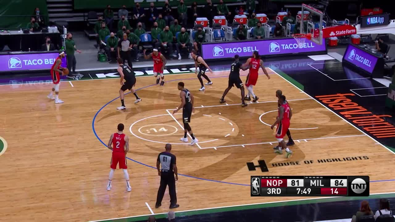 2-pointer by Brandon Ingram | Pelicans-Bucks Highlights