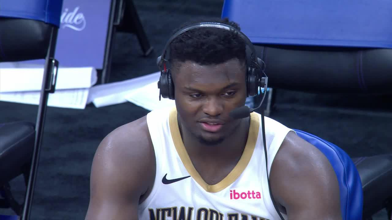 Pelicans On-Court Postgame Interview: Zion Williamson vs. Kings