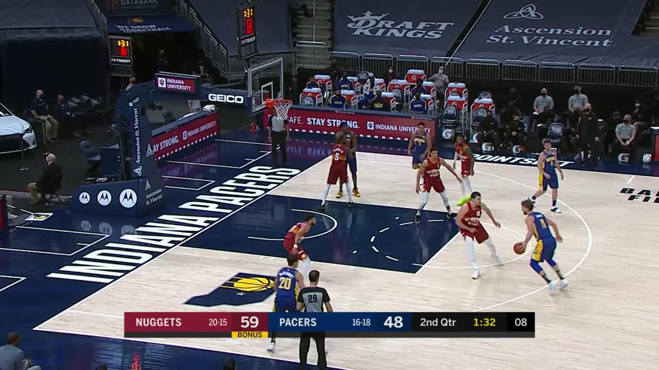 Sabonis Powerful Dunk