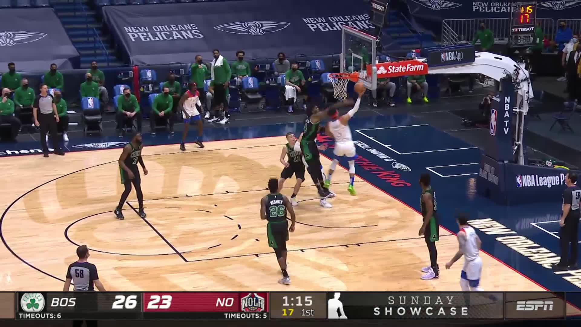 Josh Hart show and go   Pelicans-Celtics Highlights