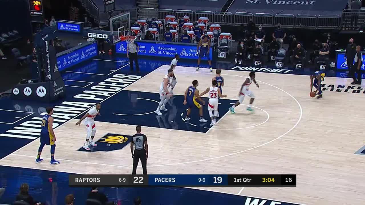 Pacers Swing it for Turner's 3-Pointer