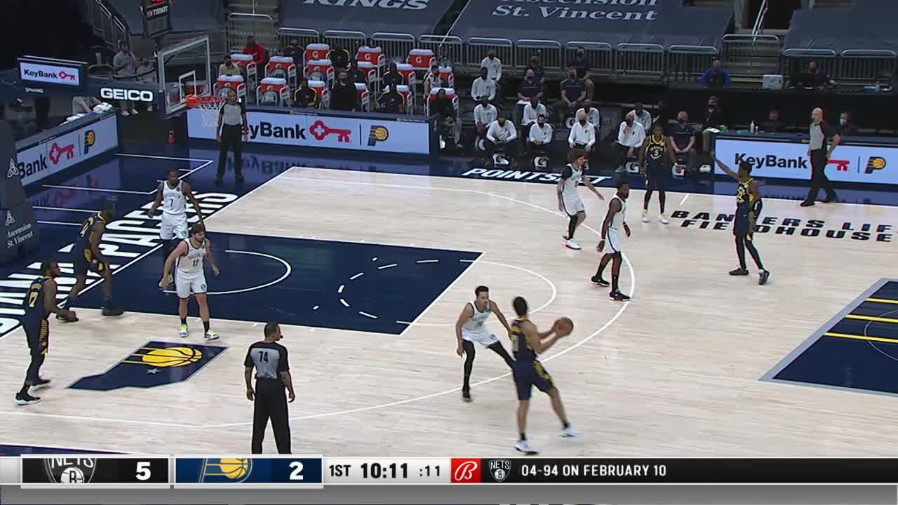 LeVert Sinks the Three
