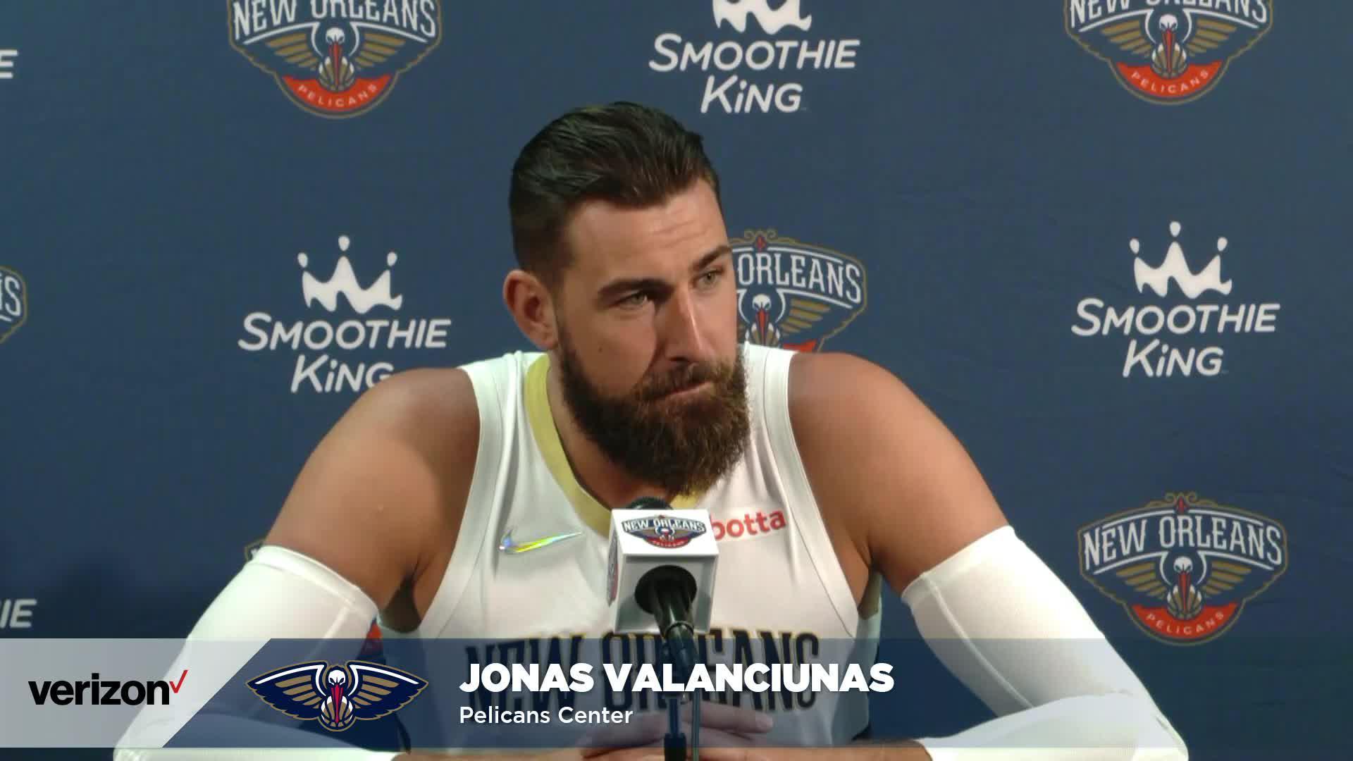 Jonas Valančiūnas on joining New Orleans | Pelicans Media Day 2021 Interviews