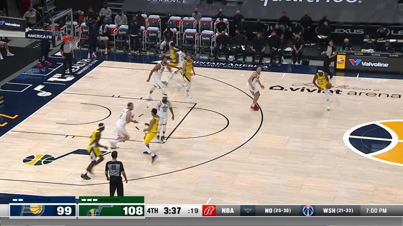 LeVert Four-Point Play
