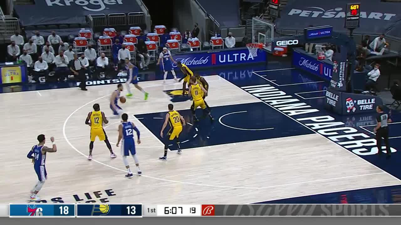 Sabonis Finds Holiday For the 3-Pointer