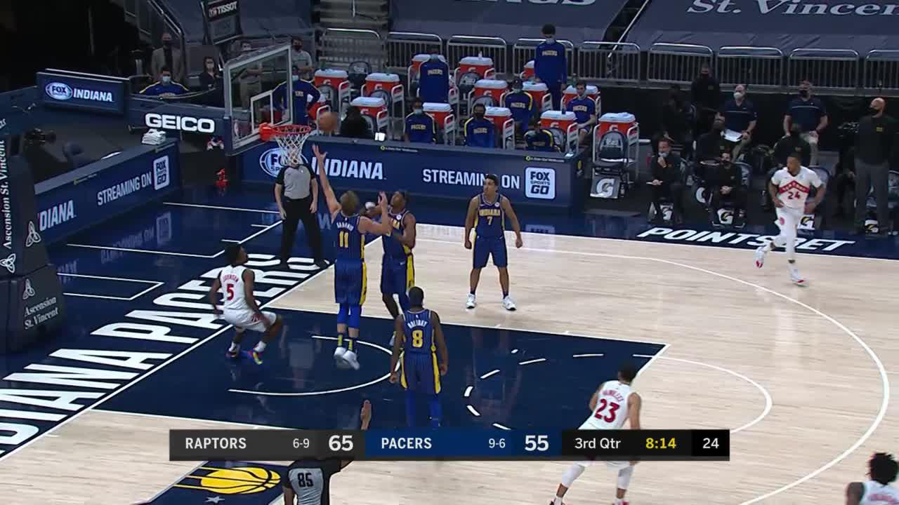 Domas Bounces it to Doug Behind the Arc