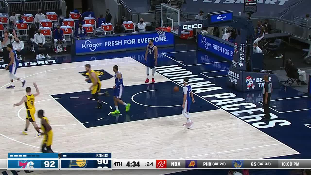 Sabonis All Alone for the Dunk