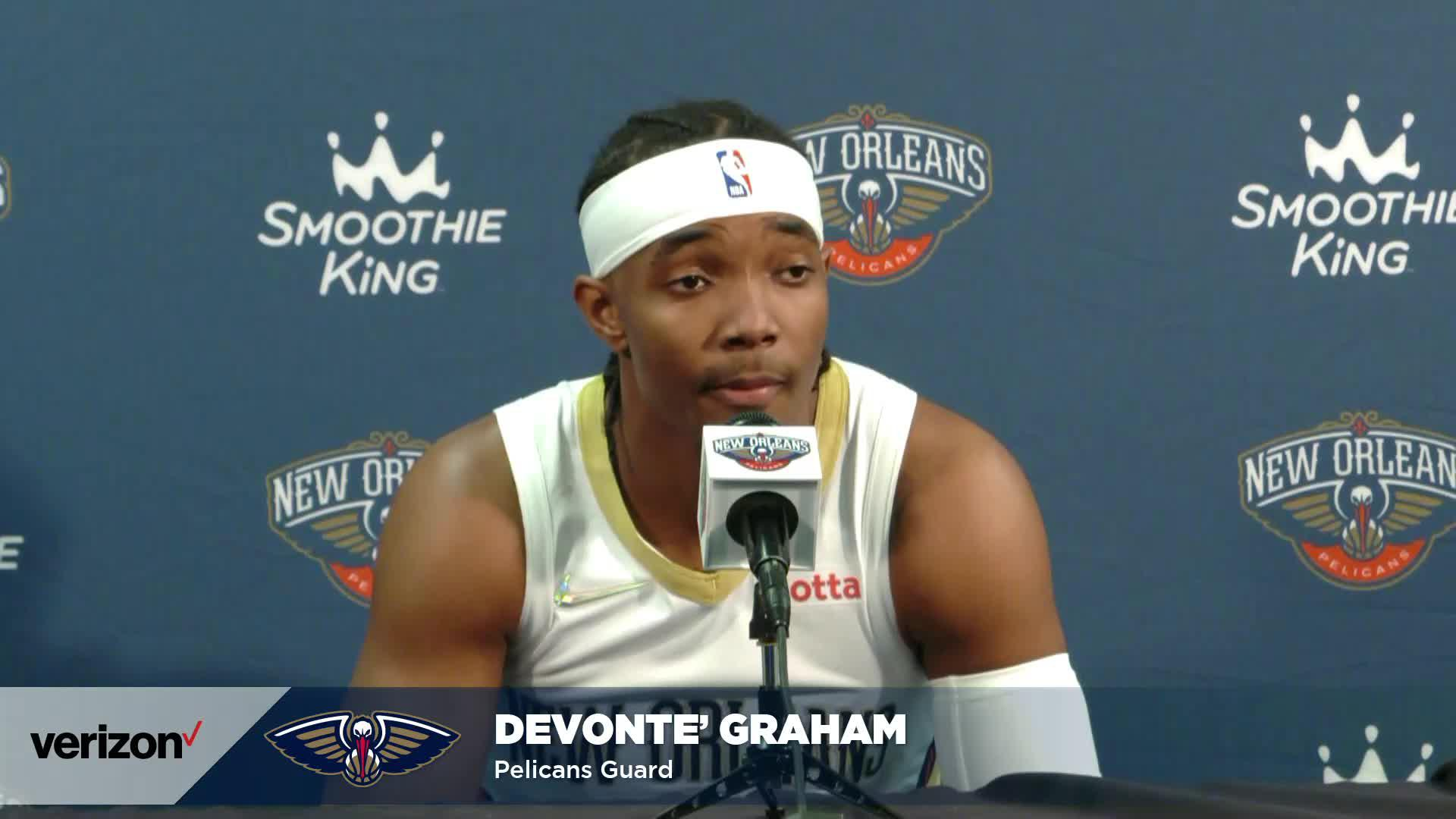 Devonte' Graham on joining New Orleans, playing with Zion Williamson | Pelicans Media Day 2021