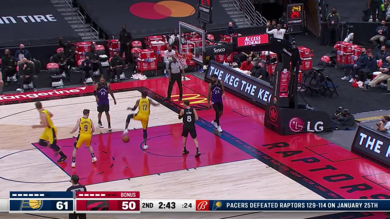 Brissett Rises Up for the Dunk