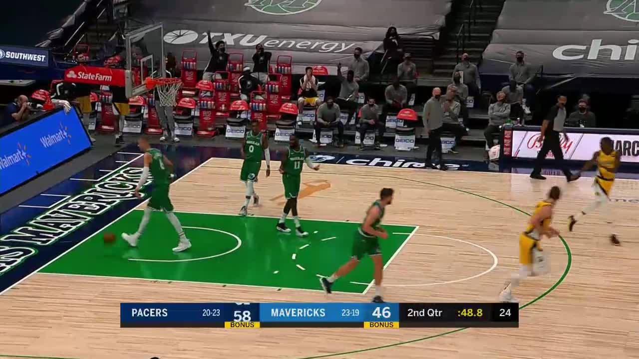 Domas Kicks It Out to Brogdon
