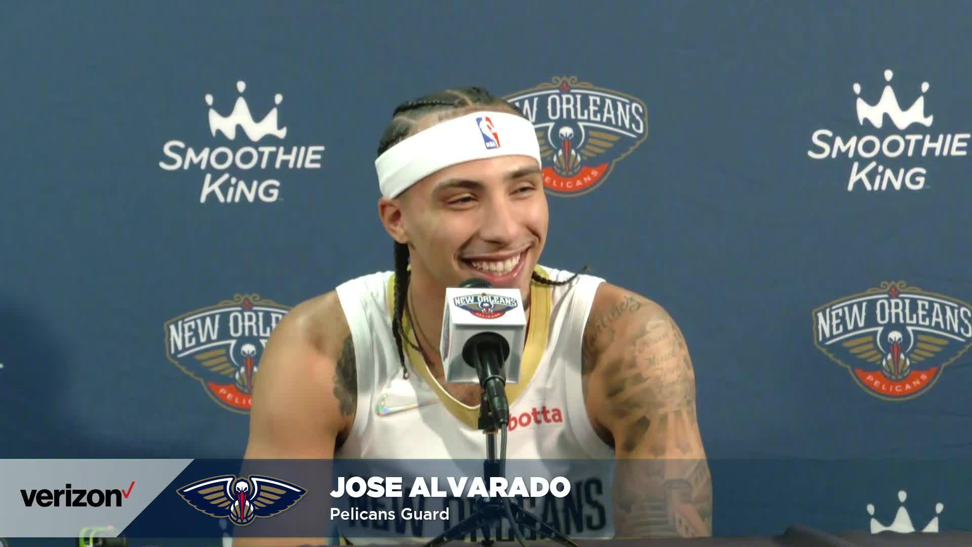 Jose Alvarado on his Summer League experience, joining NBA roster | Pelicans Media Day 2021 Interviews