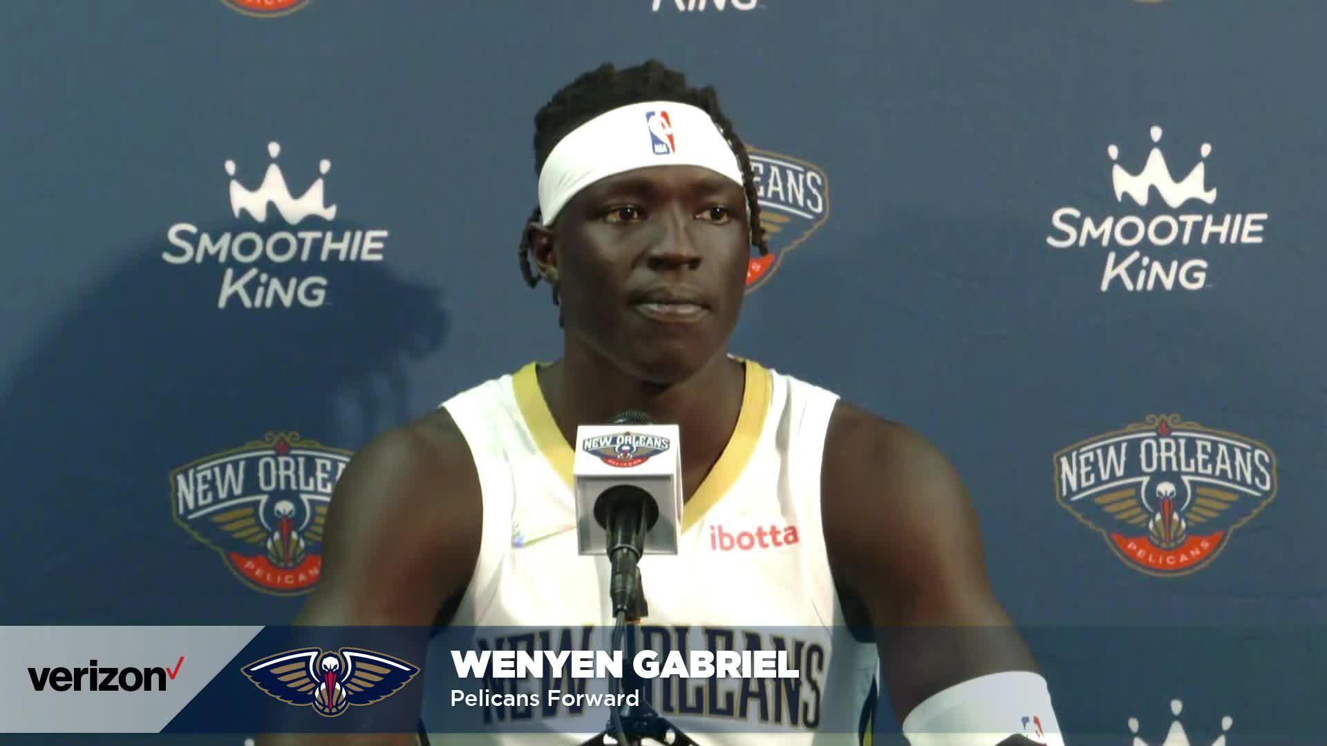 Wenyen Gabriel on Willie Green, improved skill set | Pelicans Media Day 2021 Interviews