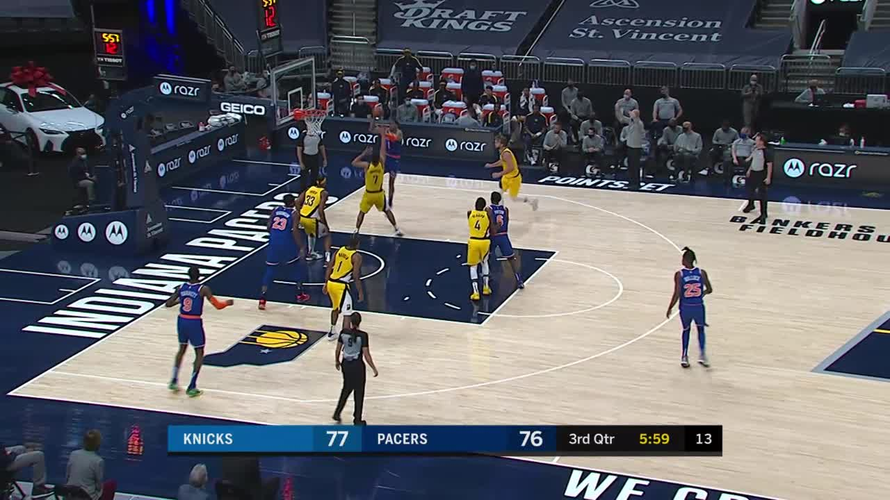 Oladipo Gives It Off To Warren
