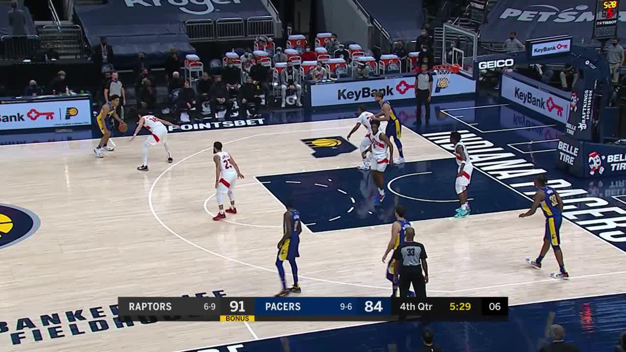 Pacers Make the Extra Pass For Three