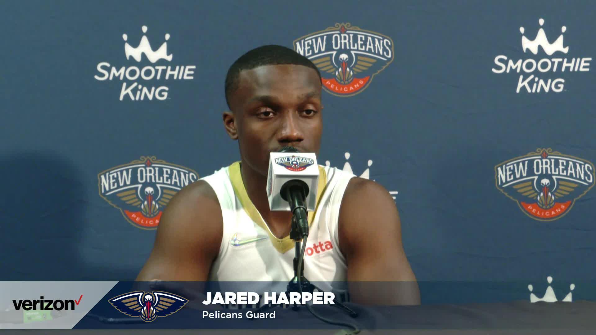 Jared Harper on Willie Green, Nashville workouts | Pelicans Media Day 2021 Interviews
