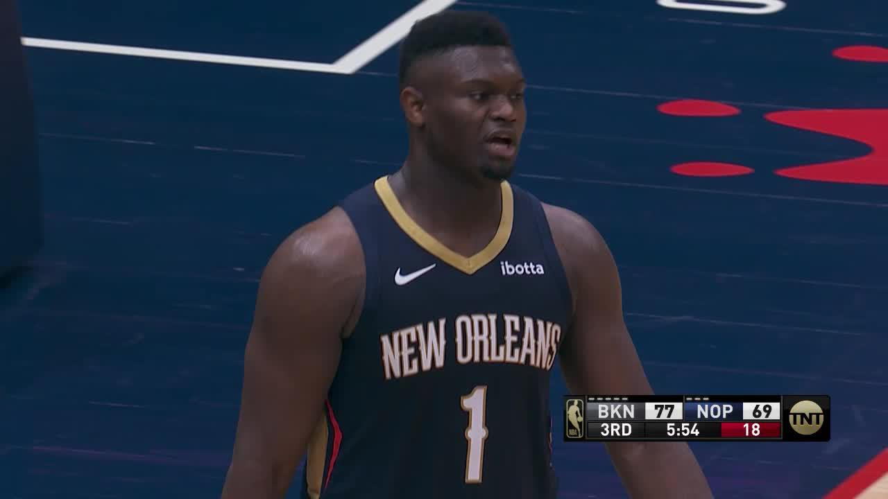 Zion Williamson Mic'd Up vs Brooklyn Nets 4-20-21