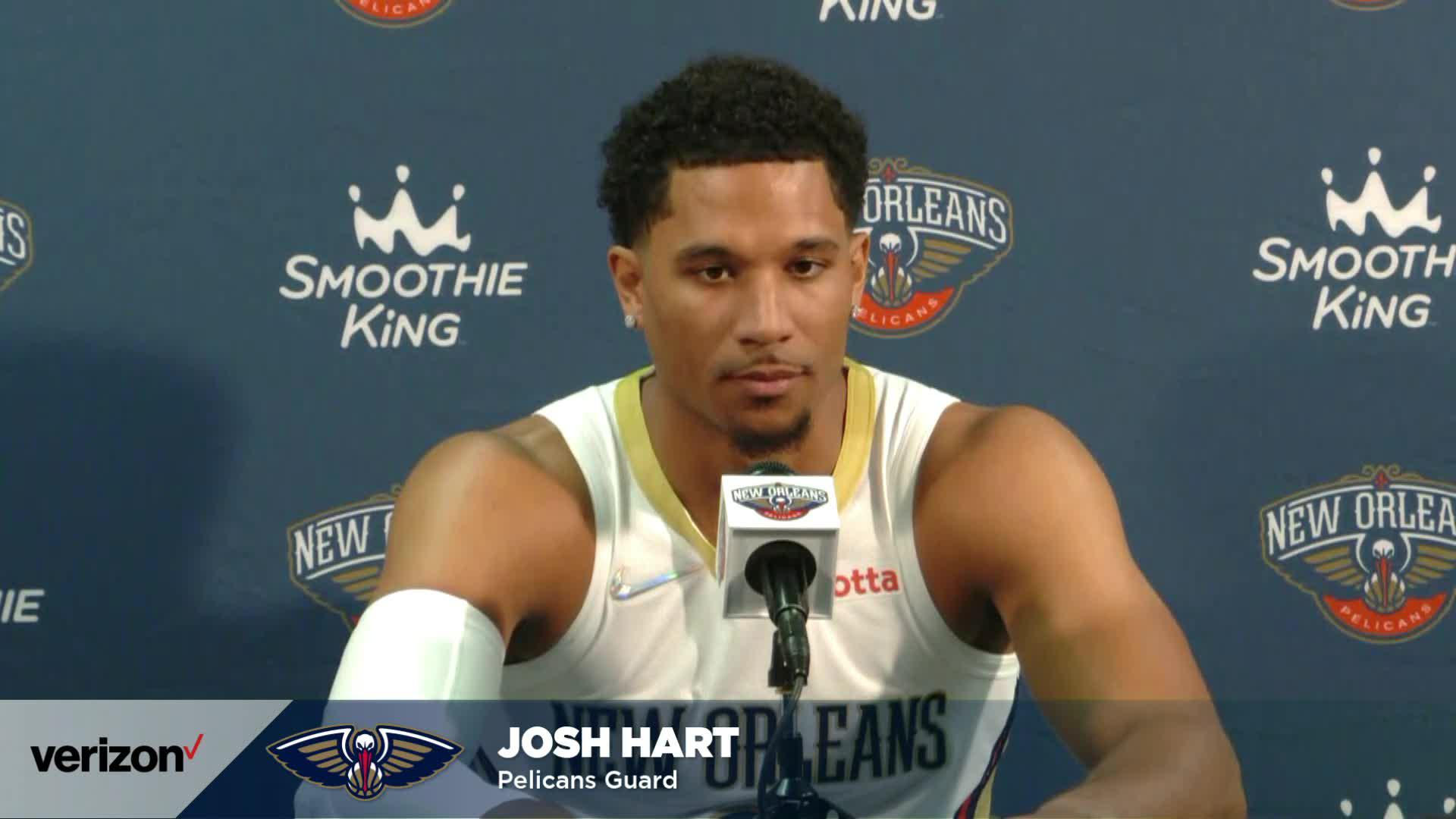 Josh Hart on Willie Green, rejoining New Orleans after free agency | Pelicans Media Day 2021 Interviews