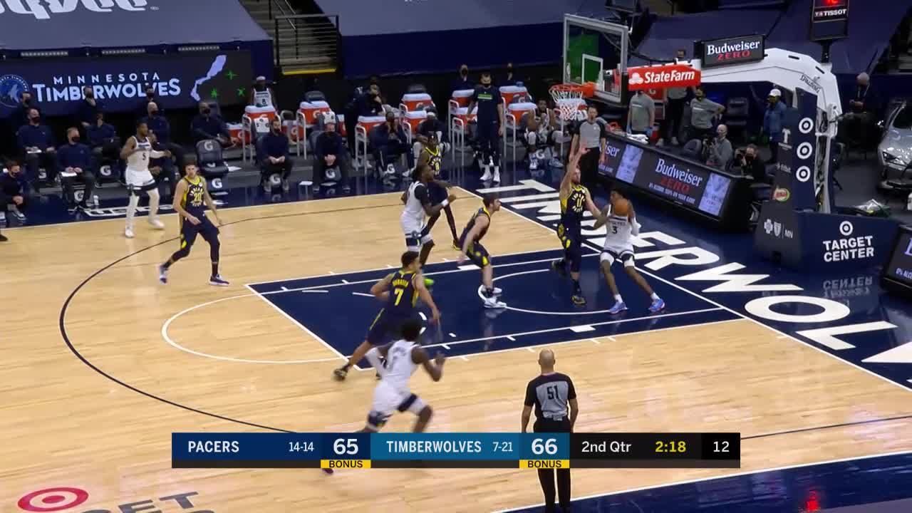 McConnell Long Pass to Sabonis