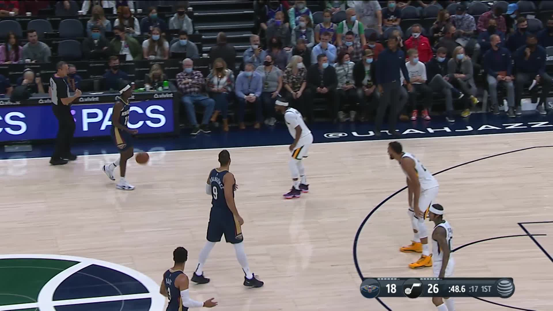 2-pointer by Nickeil Alexander-Walker | Pelicans Preseason: Pelicans at Jazz 10-11-21