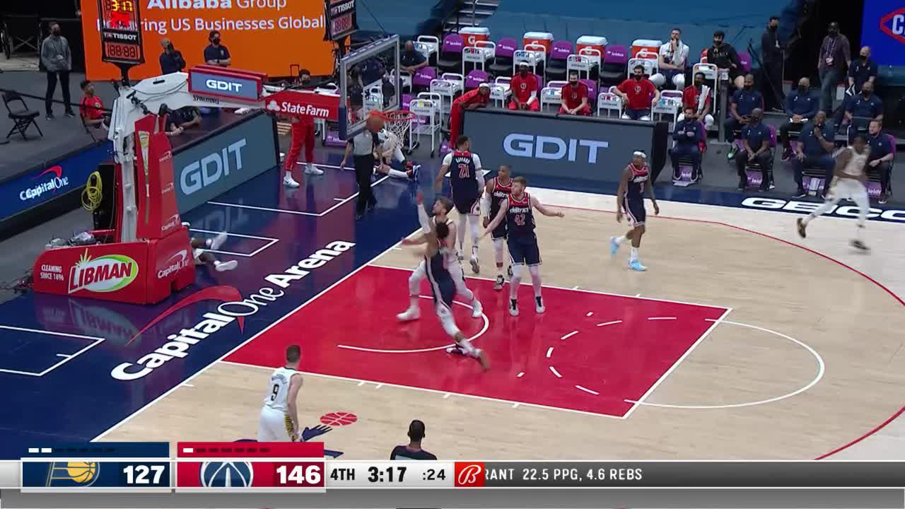 Holiday Knocks Down a Three