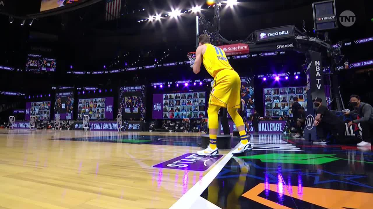 Sabonis Wins the Skills Challenge
