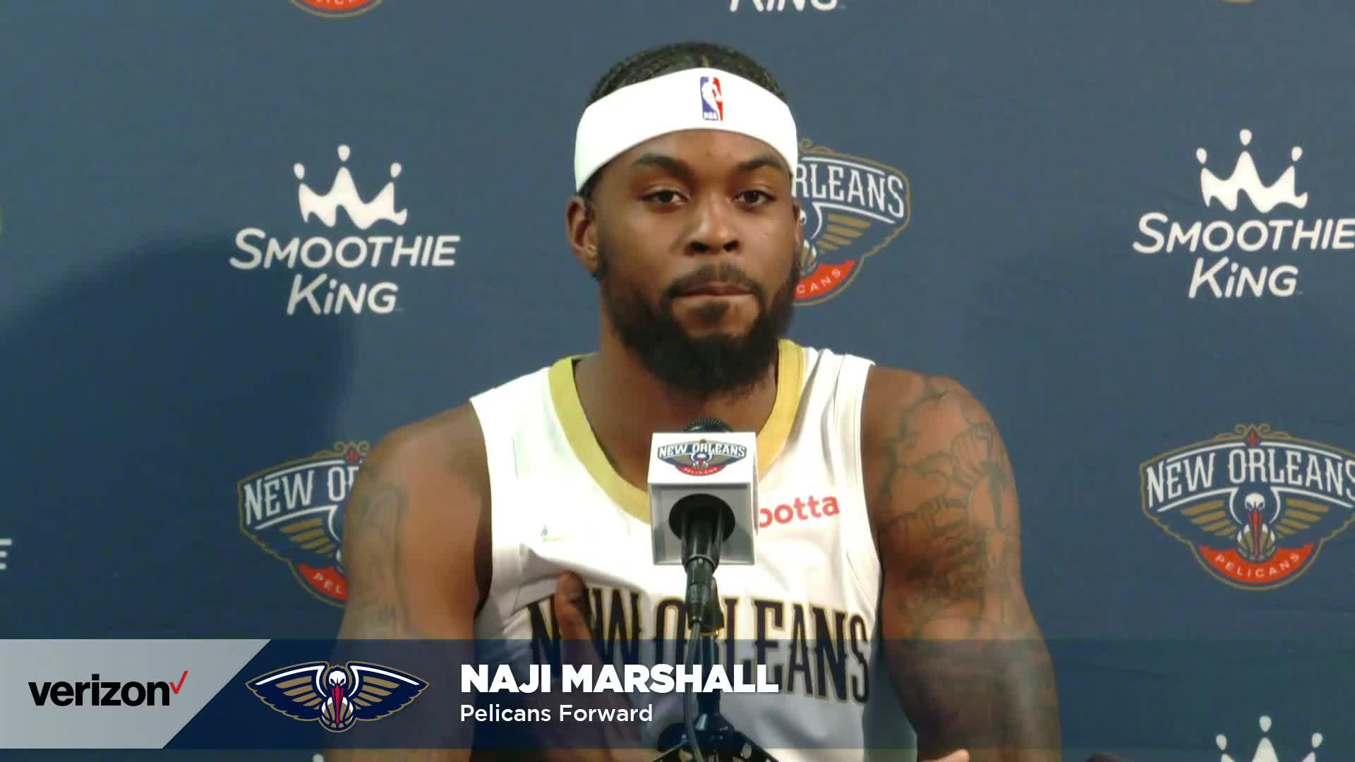 Naji Marshall on Summer League, playing for Willie Green | Pelicans Media Day 2021 Interviews