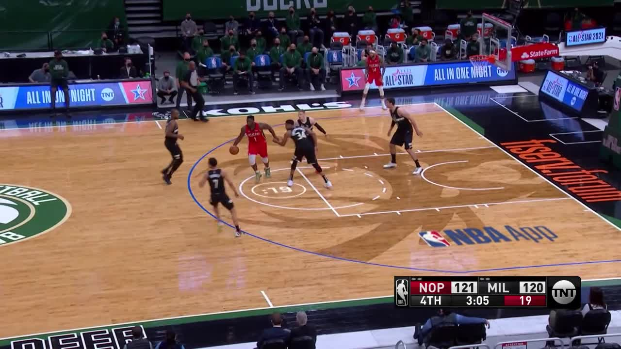 Brandon Ingram drive for two | Pelicans-Bucks Highlights