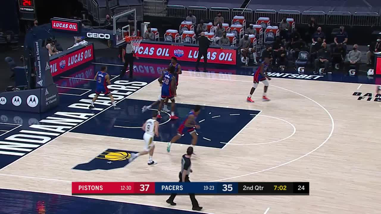 Caris Takes His Man Off the Dribble