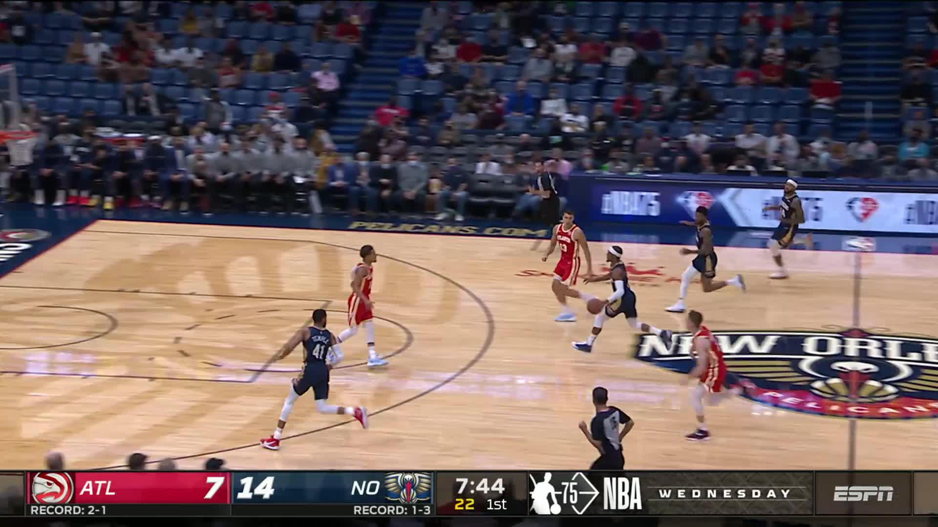 Devonte' Graham fast-break finish | Pelicans-Hawks Highlights 10/27/21
