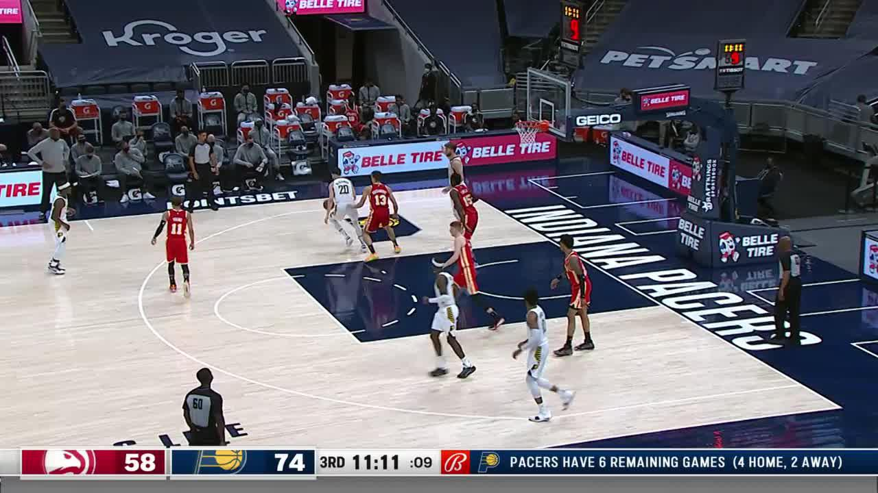 Sabonis Steps Back and Hits