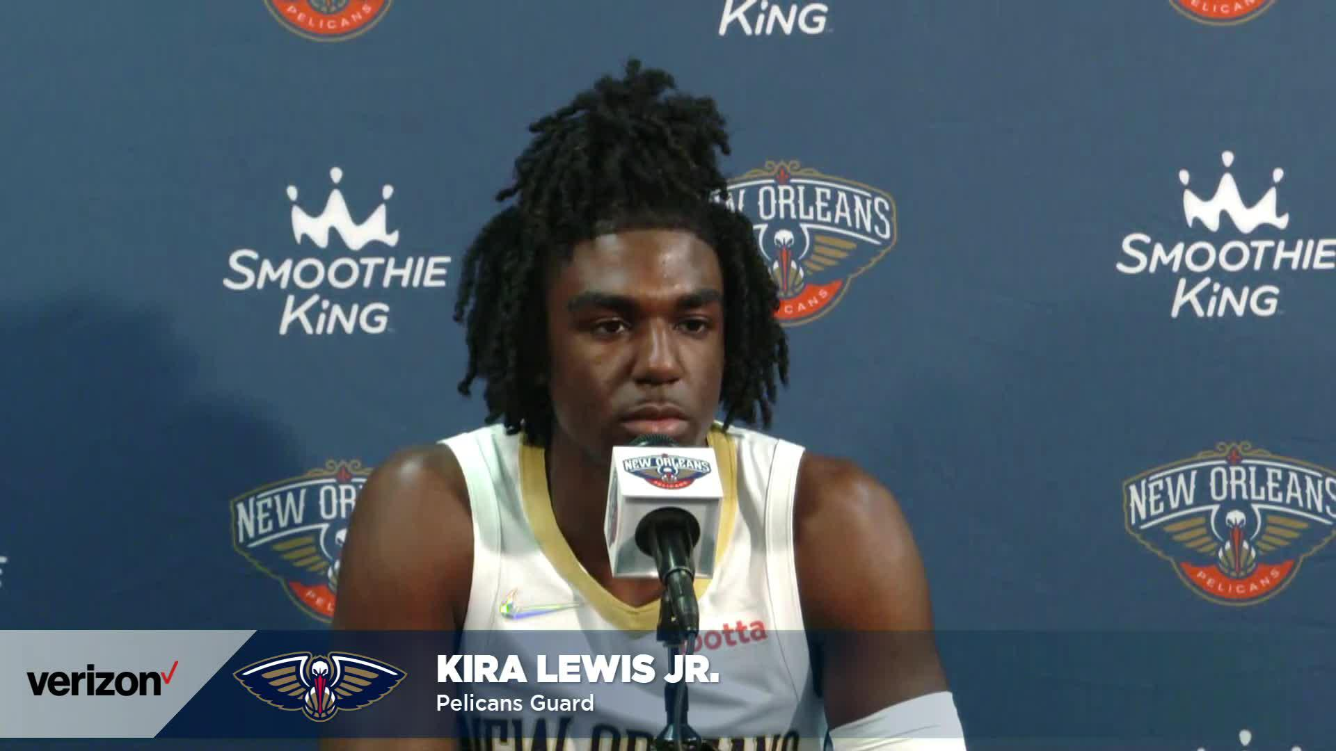 Kira Lewis Jr. on Herb Jones, Nashville workouts | Pelicans Media Day 2021 Interviews