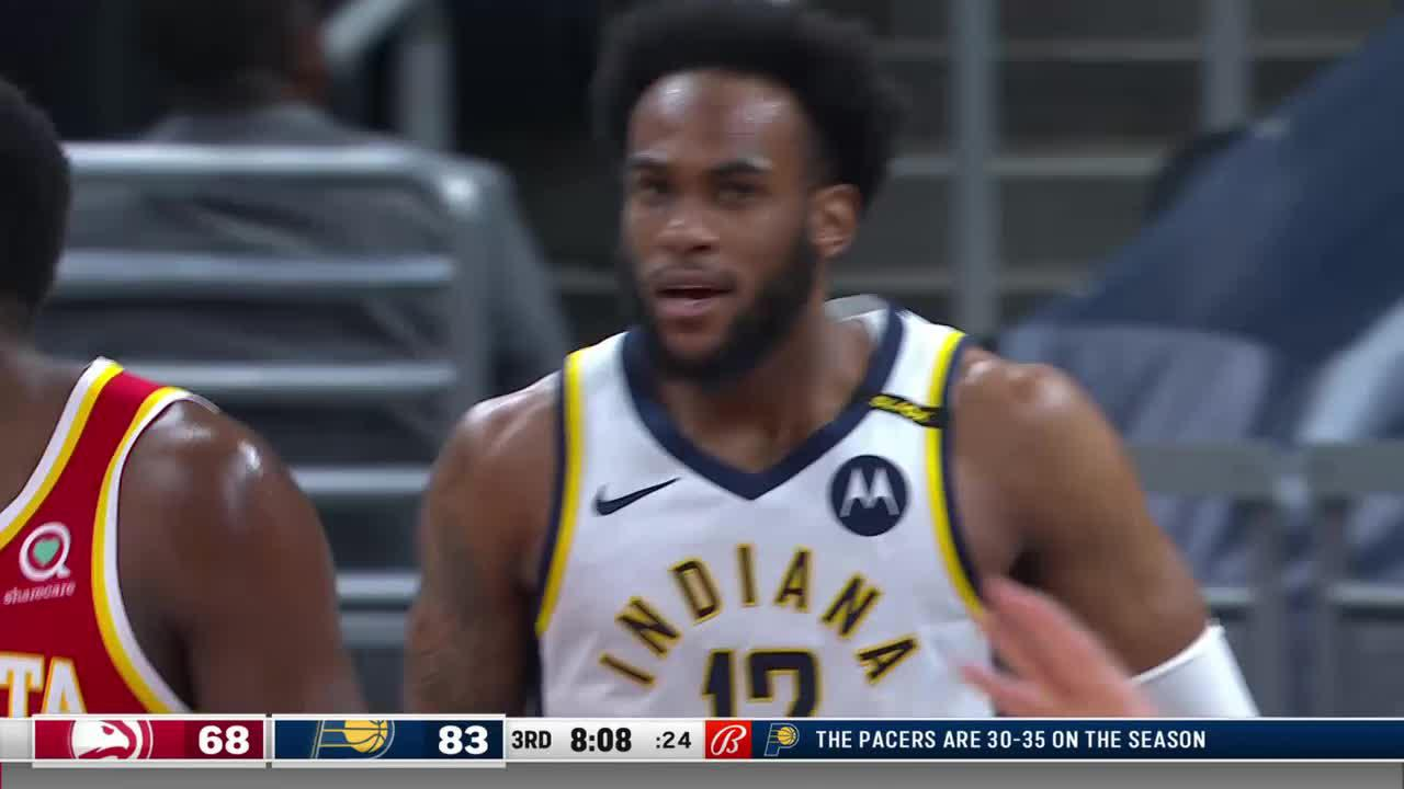 LeVert Dishes to Brissett for the Dunk